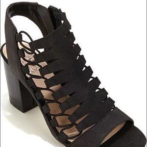 Black Vince camuto chunky heel sandal
